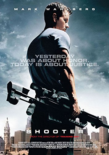 SHOOTER MOVIE POSTER 2 Sided ORIGINAL Version A 27x40 MARK WAHLBERG
