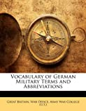 Vocabulary of German Military Terms and Abbreviations, , 1141673371