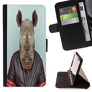 King Art - Premium-PU-Leder-Prima caja de la PU billetera de cuero con ranuras para tarjetas, efectivo Compartimiento desmontable y correa para la mu?eca FOR LG G3 LG-F400 D802 D855 D857 D858 - hippo