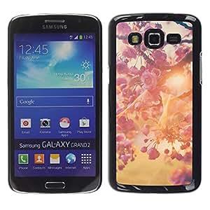 YOYOYO Smartphone Protección Defender Duro Negro Funda Imagen Diseño Carcasa Tapa Case Skin Cover Para Samsung Galaxy Grand 2 SM-G7102 SM-G7105 - primavera árbol de flor de manzana sol del verano