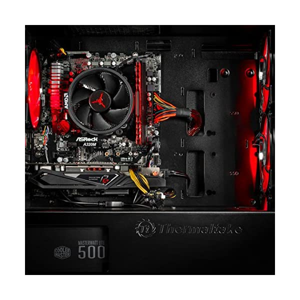 SkyTech [RX580 Version] Blaze VR Ready RGB Gaming Computer Desktop PC - Ryzen 1200 3.1GHz Quad-Core, AMD RX 580 4GB, 8GB… 4