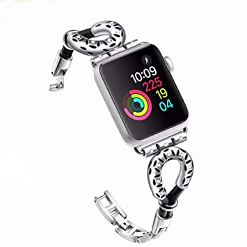 Banda De Reloj De Apple Compatible 38 Mm 42 Mm, Cadena De Joyería De Metal