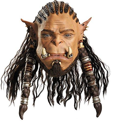 UHC Men's World of Warcraft Durotan Deluxe Theme Party Latex Halloween (World Of Warcraft Masks)