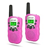 WIKI 3-12 Year Old Girl Toys, Long Range Walkie Talkies for Kids Toys for 3-12 Year Old Girls Gifts for 3-12 Year Old Girls Gifts for Teen Boys Pink WKUSDJJ06