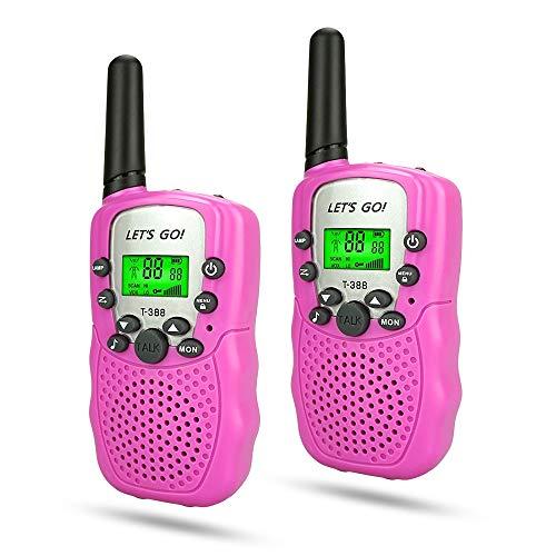 WIKI 3-12 Year Old Girl Toys, Long Range Walkie Talkies for Kids Toys for 3-12 Year Old Girls Gifts for 3-12 Year Old Girls Gifts for Teen Boys Pink WKUSDJJ06 by WIKI