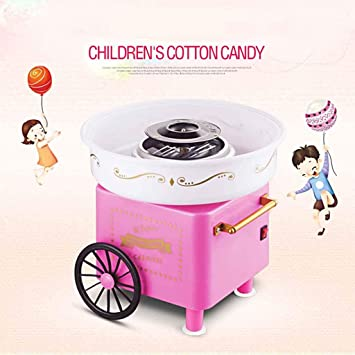 MU Mini máquina de Caramelo de algodón portátil para el hogar Máquina de Caramelo de algodón para el hogar Nostálgica Hilo de azúcar Máquina para Hacer Dulces de azúcar Fiesta de Carnaval,Rosado: