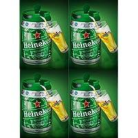 4 x 5 l Barril con grifo (de Heineken draught Keg 5%