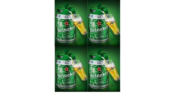 4 x 5 l Barril con grifo (de Heineken draught Keg 5%: Amazon.es: Alimentación y bebidas
