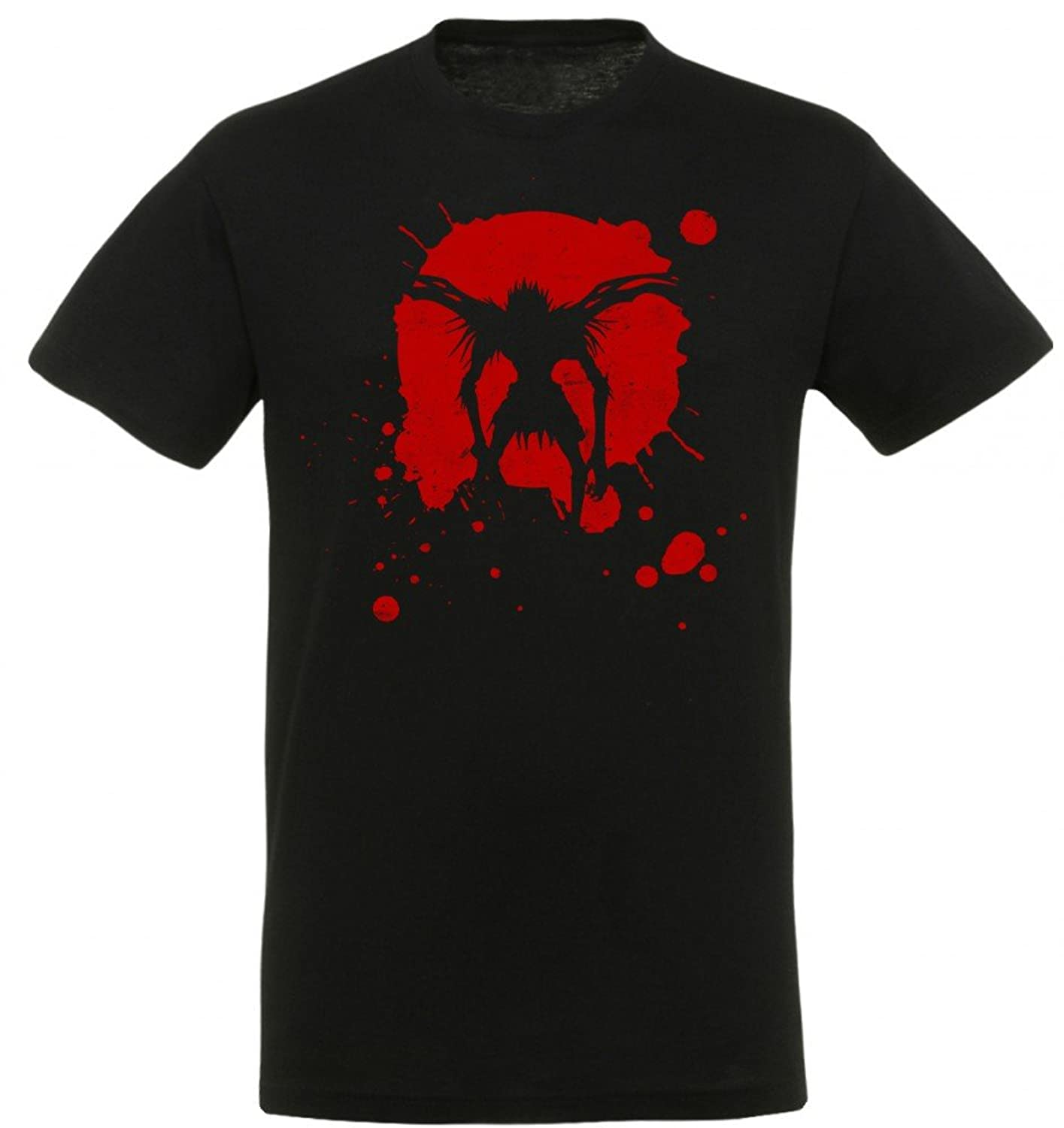 Death Note Herren Ryuk Splash T-Shirt Original 100% Baumwolle Schwarz Manga  Anime: Amazon.de: Bekleidung