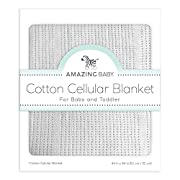 Amazing Baby Cellular Blanket, Premium Cotton, Pastel Sterling