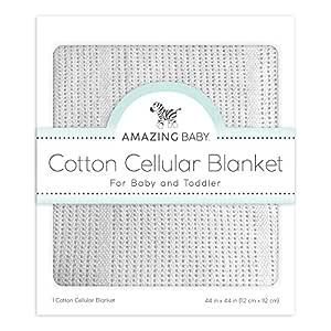 Amazing Baby Cellular Blanket, Premium Cotton, Soft Sterling