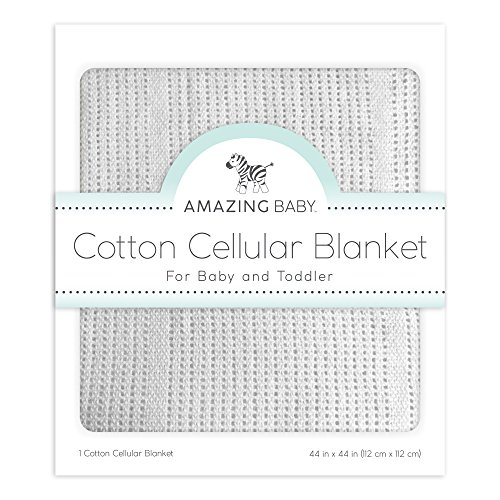 (Amazing Baby Cellular Blanket, Premium Cotton, Pastel Sterling)