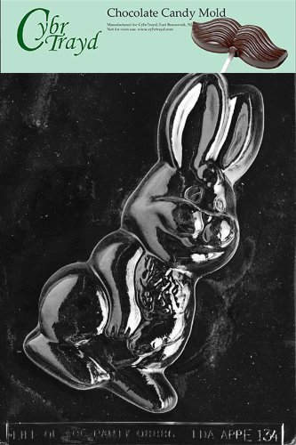 Large Bunny Chocolate Mold (Cybrtrayd Life of the Party E134 Large Bunny Easter Chocolate Candy Mold in Sealed Protective Poly Bag Imprinted with Copyrighted Cybrtrayd Molding Instructions)