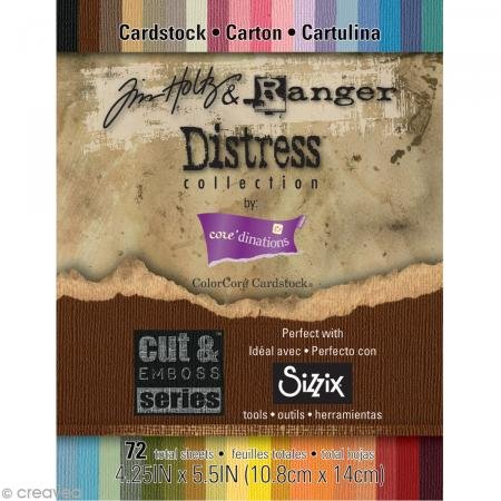 - Darice GX-1900-37 72-Pack Core'dinations Tim Holtz and Ranger Color Core Cardstock, Distress, 4-1/4 by 5-1/2-Inch, Assorted Color