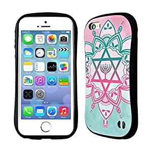 DIY Case Designs Ombre Star of David Hybrid Gel Back Case for Apple iPhone 5 5s by ruishername