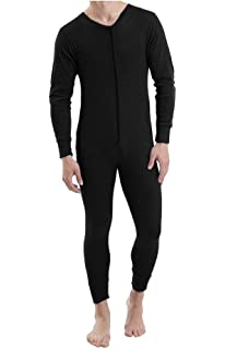 Mens Thermal Onesie All in ONE Underwear Set Baselayer Zip Body Suit SKI  S-XL 47ae72a9c