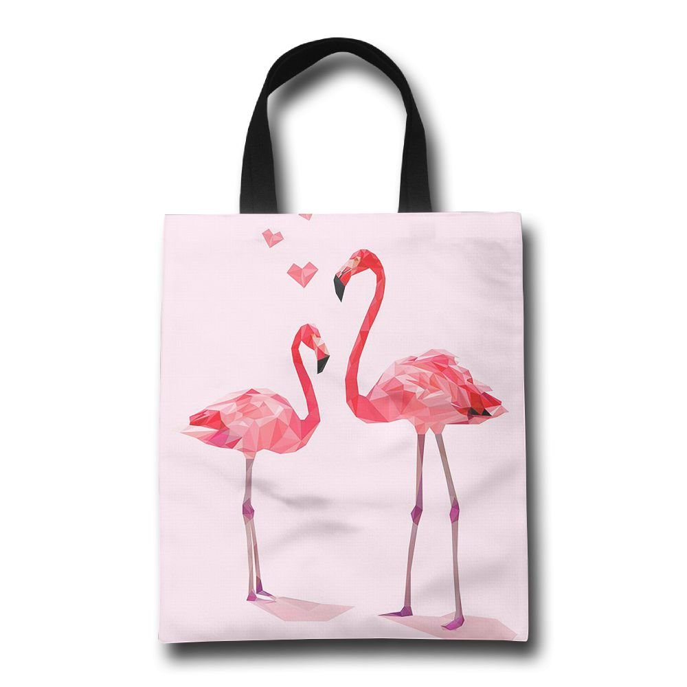 BINGO BAG Reusable Grocery Bags Flamingo Party Love Extra Large Shopping Bags Grocery Tote Bag with Handles BINGOGO Manufacturer