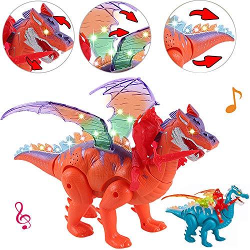 Panamat RC Robots & Animals - New Jurassic Animal Dinosaur Model Sound Effect Colorful Light Mechanical Dragon Flashing Cool Animals Boys Toys 1 PCs for $<!--$27.99-->