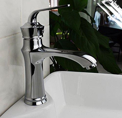 MEIBATH Waschtischarmatur Badezimmer Waschbecken Wasserhahn Küchenarmaturen Messing Einhebelsteuerung Einhebelsteuerung Warmes und Kaltes Wasser Küchen Wasserhahn Badarmatur