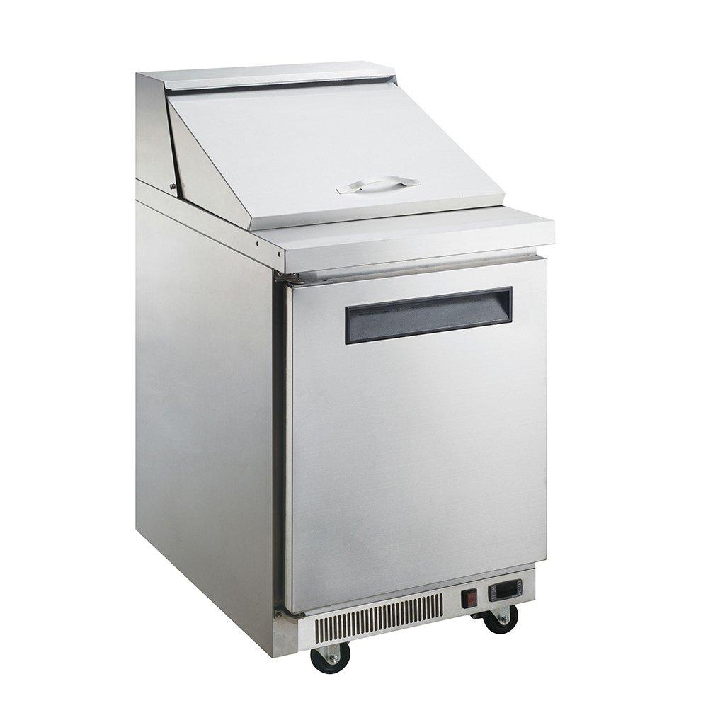 Dukers Appliance USA DUK600162377936 Sandwich Salad Prep Table Refrigerator, 1 Door, 29'' Width x 31'' Depth x 44'' Height, Silver, Stainless steel
