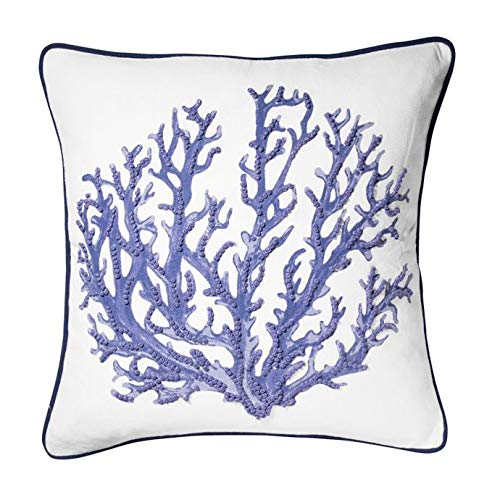 CORAL REEF Coastal Throw Pillow in Navy (Set of - Reef Pillow Throw
