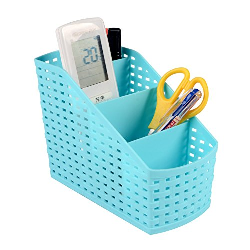 Saim Space Saving Plastic Office Supplies Desk Organizers/ Pen Holder /Cell Phone Holder/Cosmetic holder 4 Sorter Sections (Plastic Desk Pen)