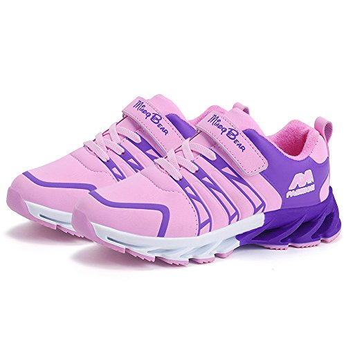 SITAILE Kids Lightweight Sneakers Casual Running Shoes Outdoor Walking Athletic Sport Shoes For Boys and Girls Pink-1 28