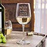 Funny Wine Glass - The Best Wines Are The Ones We Drink With Friends (Stemmed Wine Glass)