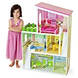 Wooden Wonders Living Large! Modern Dollhouse with 18 Pieces of Furniture by Imagination Generation