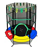 Exacme Youth Kids Trampoline 55'' Exercise Jumping Round Safety Pad Enclosure Combo 0005