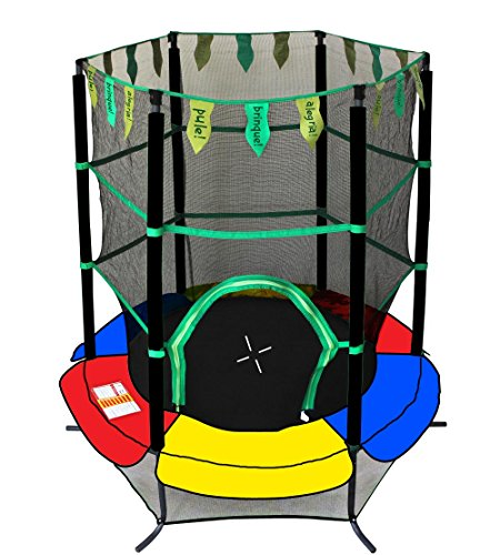 Exacme Youth Kids Trampoline 55'' Exercise Jumping Round Safety Pad Enclosure Combo 0005 by Exacme