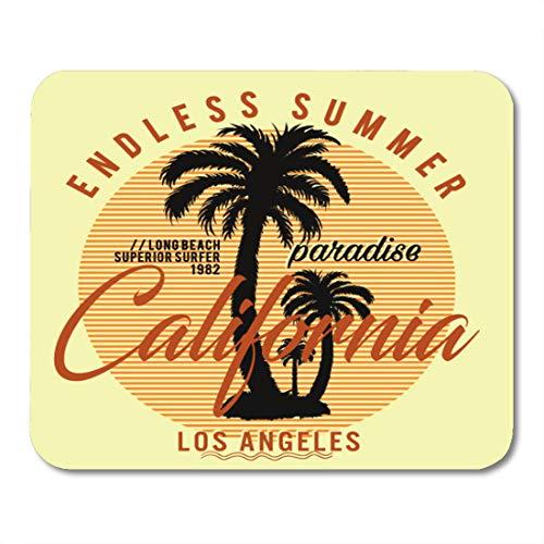 Nakamela Mouse Pads America Coast California Long Beach Superior Surfer Endless Summer Graphics West Apparel. Mouse mats 9.5