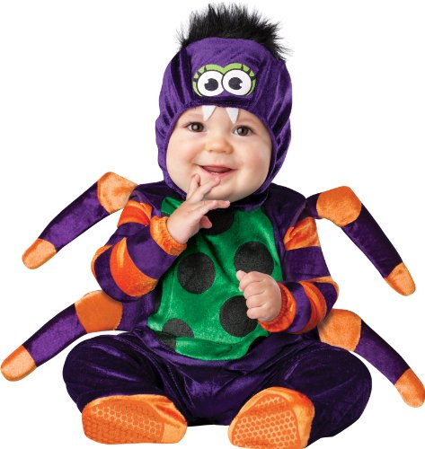 Baby Girl Spider Halloween Costume (InCharacter Costumes Baby's Itsy Bitsy Spider Costume, Purple/Green/Orange/Black,)