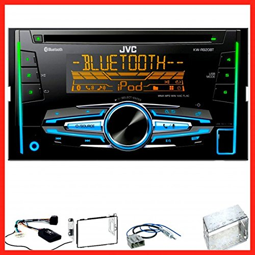 JVC KW-R920BT Autoradio USB MP3 Bluetooth CD Einbauset f/ür Nissan Qashqai J10