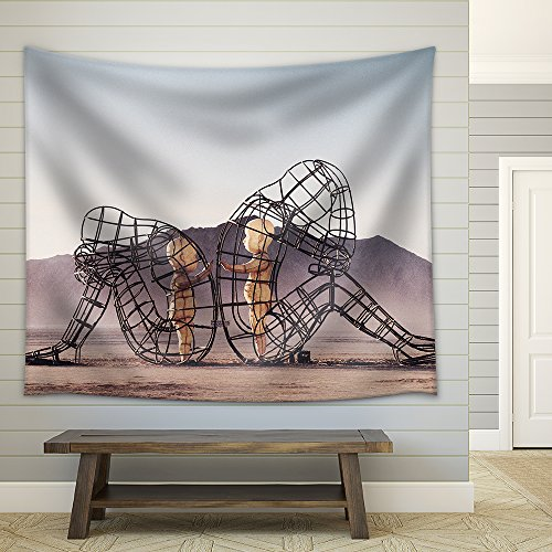 Structure with Concept of Baby Soul Inside in Desert Fabric Wall