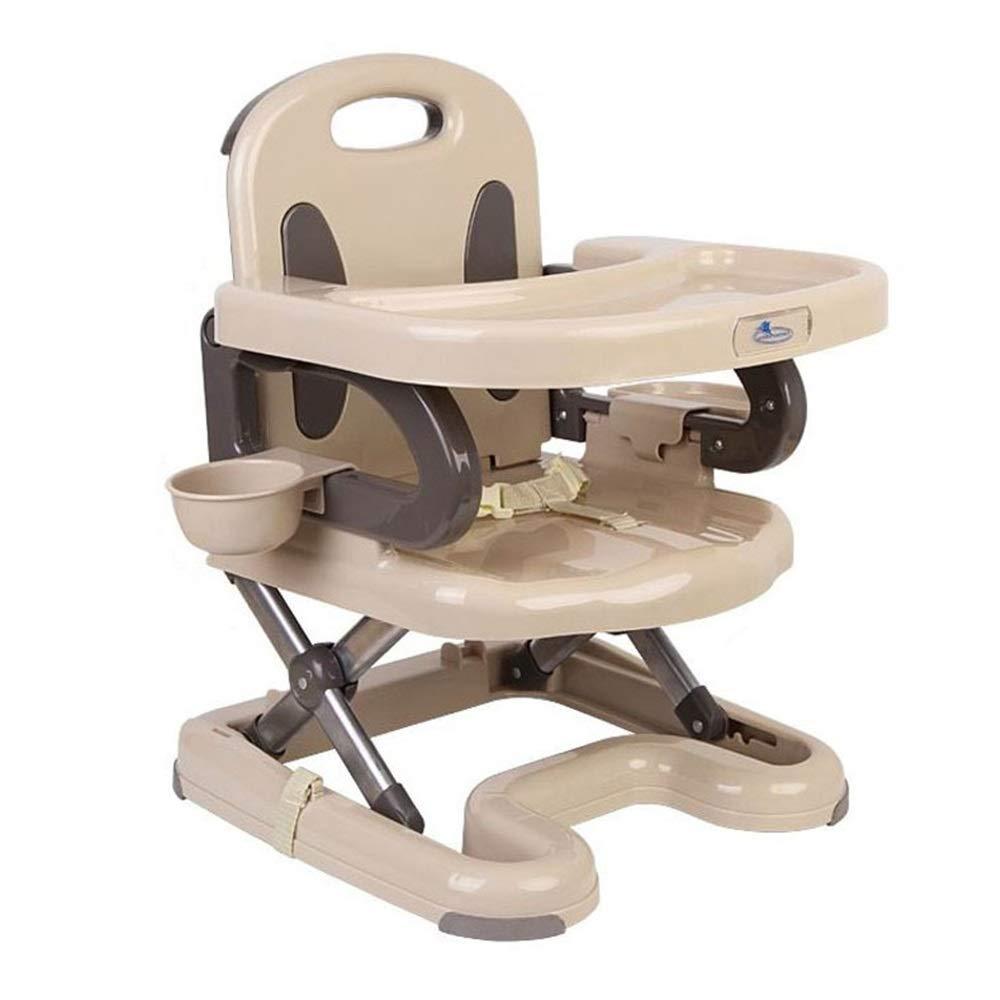 子供用ダイニングチェア 折り畳み式の取り外し可能なトレイダイニングチェア幼児用チェアトラベルベビーフードハイチェア 省スペース (色 : ベージュ, サイズ : 40*41*55cm) 40*41*55cm ベージュ B07S6DSCQS