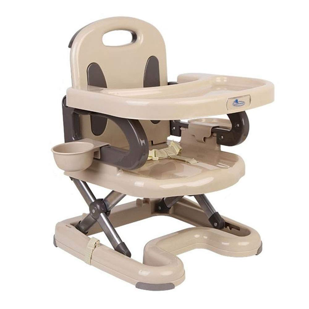 Kids' Desk & Chair Sets Travel Baby Feeding Highchair Foldable Infant Chair Removable Tray Dinning Chairs (Color : Beige, Size : 404155cm) by Liuxina