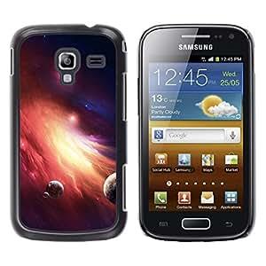 TopCaseStore / la caja del caucho duro de la cubierta de protección de la piel - Space Planet Galaxy Stars 36 - Samsung Galaxy Ace 2 I8160 Ace II X S7560M