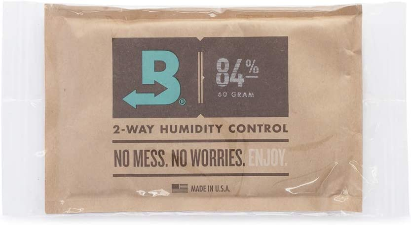 Boveda for Cigars | 84% RH 2-Way Humidity Control for Humidor Seasoning | Size 60 for Use with Every 25 Cigars a Humidor Can Hold | Properly Seasons a Wood Humidor in 14 Days | 1-Count