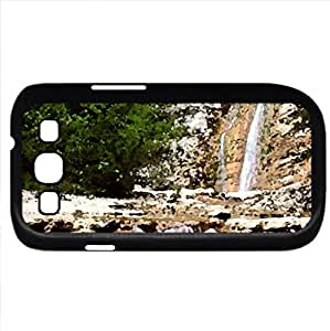 Waterfalls (Waterfalls Series) Watercolor style - Case Cover For Samsung Galaxy S3 i9300 (Black)