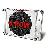 OzCoolingParts 74-88 Buick & Chevy & GMC & Oldsmobile & Pontiac Radiator Fan Shroud, 4 Row Core Aluminum Radiator +16