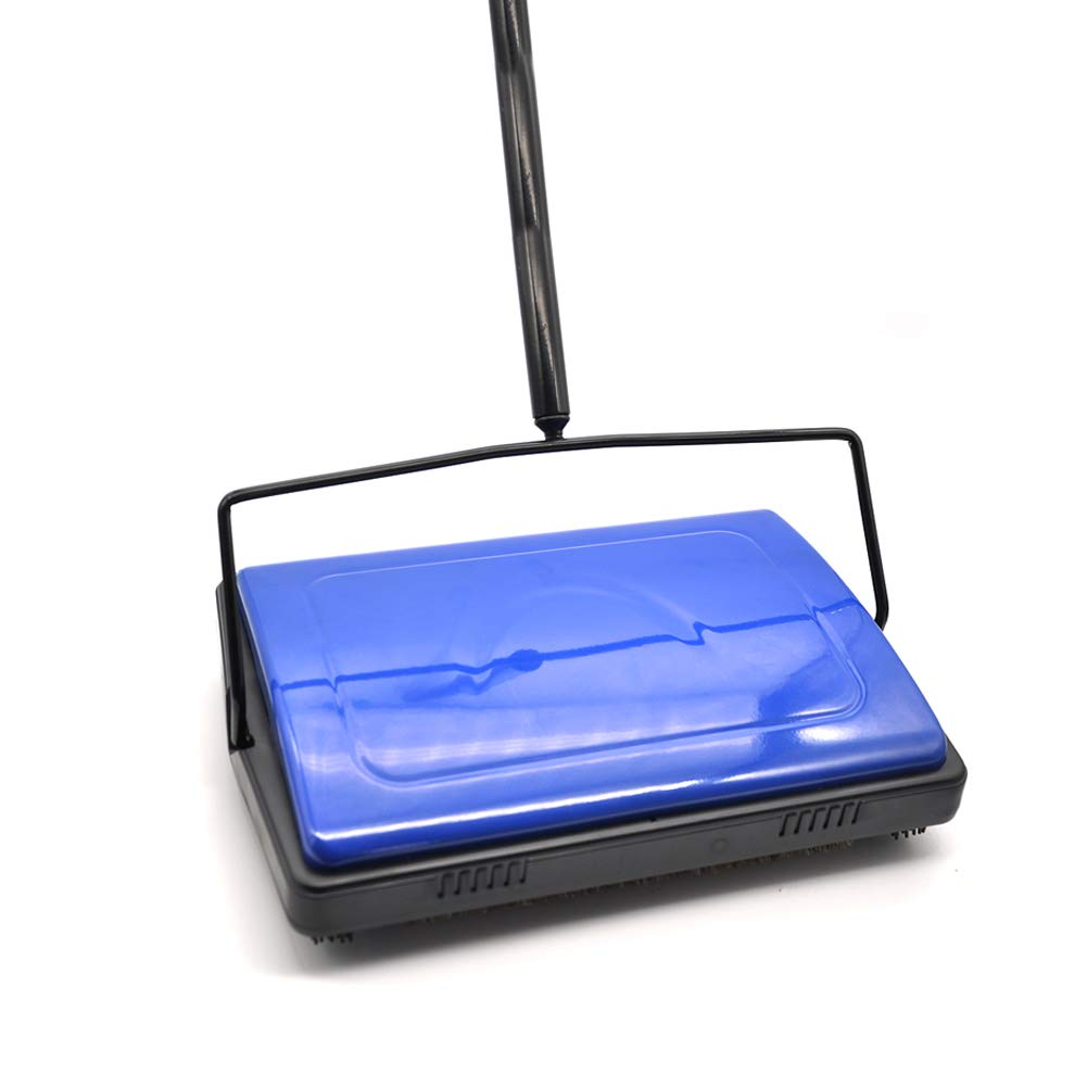 EZ SPARES Quiet Carpet Sweeper, Floor Sweeperwith Horsehair Roto Brush Strong Cleaning Power Great for House,Office,Kitchen,Parquet Floor
