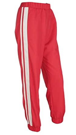 shoes for cheap on feet at classic fit Suncolor8 Women's Striped Side Sweatpants Casual Elastic ...