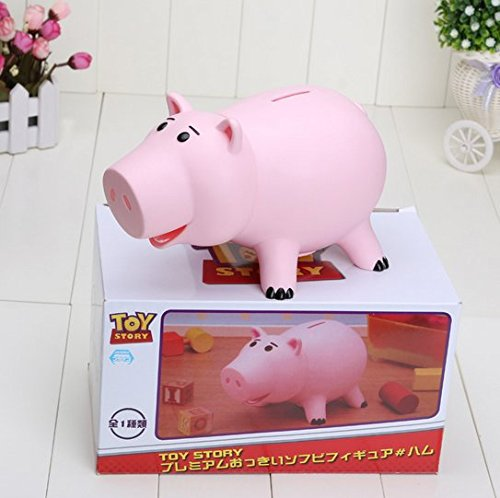 Hot 20cm Toy Story Hamm Piggy Bank Pink Pig Coin Box money box PVC Model (Hamm Piggy Bank)