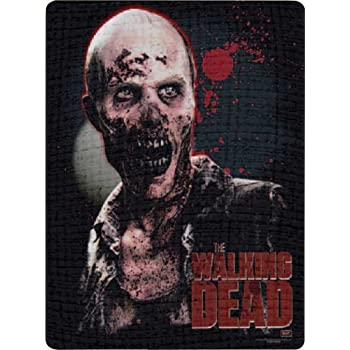 AMC Series The Walking Dead Zombie Fleece Throw Blanket