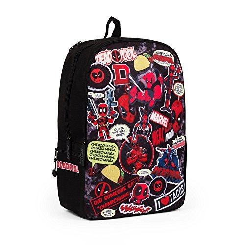 Marvel Deadpool Backpack with Laptop Sleeve -