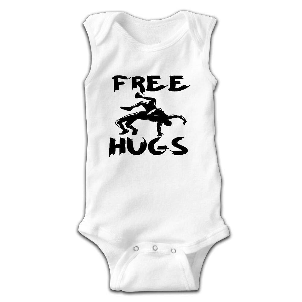 Hvaalri Nsef Free Hugs Youth Wrestling Gift Baby Sleeveless Jumpsuit Cute Baby's Crawling Suit