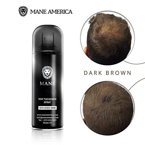 Travel size Mane America Hair Thickening Spray For Hair Loss - Hair Fibers (100ml) (Hair Loss Treatment Spray)