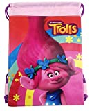 Cheap Dreamworks Trolls The Movie Poppy 10″ X 14″ Drawstring Backpack Heavy Duty Nylon Tote Bag Color (Black Kylos) (Light Pink)