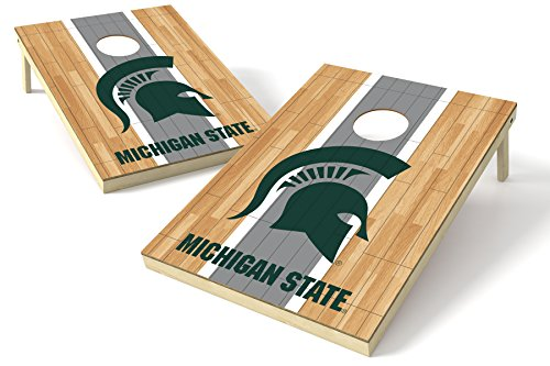 Wild Sports NCAA College Michigan State Spartans 2 x 3 Platinum College Hardwood Wood Tailgate Toss, 24